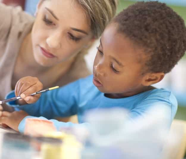 Additional learning support for child painting