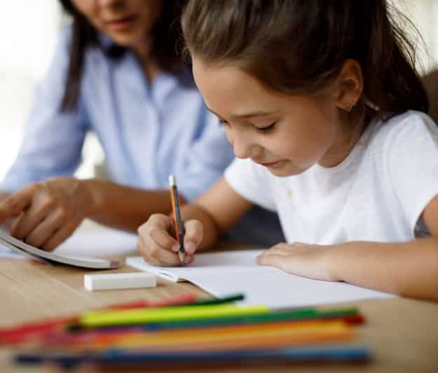 Additional learning support for child writing