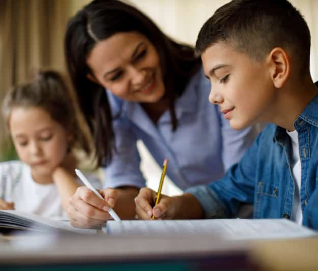 Additional learning support for children studying